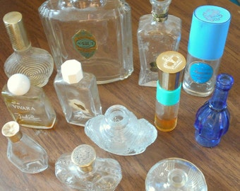 Perfume bottle collection, Vivara bottle, 4711 bottle, Prince Matchabelli bottle, old perfume bottles, cologne bottles