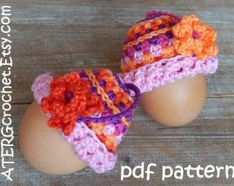 Crochet pattern EGG-COZY HAT by ATERGcrochet