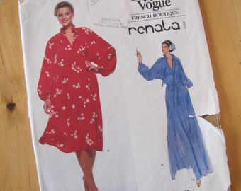 Uncut Vintage Vogue French Boutique Sewing Pattern 1823 - Renata - Misses Dress - Size 6