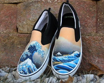 Custom Great Wave Shoes