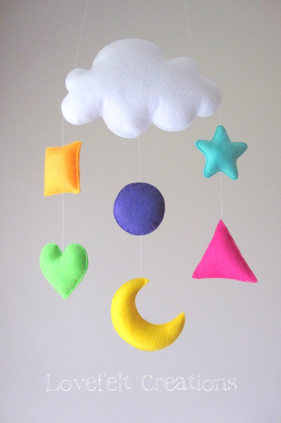 baby mobile shapes mobile baby crib mobile by lovefeltmobiles