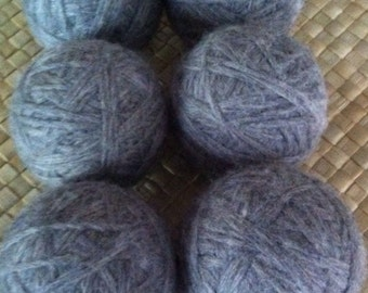 Wool Dryer Balls Felted Eco-friendly Gray set of 6
