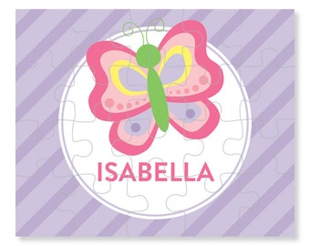 Butterfly Puzzle - Personalized Puzzle for Kids - Jigsaw Puzzle - Children Puzzles - Personalized Name Puzzle - 8 x 10 puzzle, 20 pieces