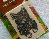 Vintage - NEW Cat STAMP - Pet Stamps by Stamp Affairs - Ink Stamp - Animal Stamp - Kitten Stamp - Cat Stamp - Still in ORIGINAL 1992 Package