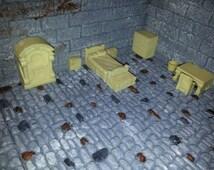 Hirst Arts - Dwarven Forge - D & D - Dungeon Bed Room Furniture Cast In Resin