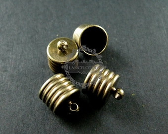 20pcs 7.5x8.5mm vintage style antiqued bronze brass glass tube top cap bail DIY glass dome supplies findings 1531020