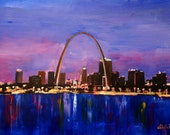 St. Louis Gateway Arch at Sunset