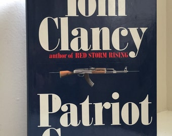 Patriot Games Hardcover 1987 1st Printing Signed and Dedicated by Tom Clancy