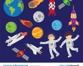 buy 2 get 1 free Space Adventure Clipart for Personal and Commercial Use ( space clip art ) vector illustration