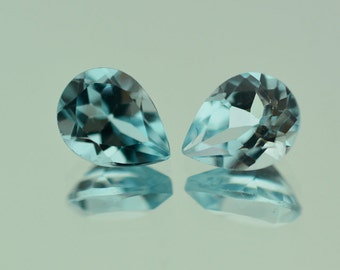0.83 Ct Natural Light Sky Blue Topaz Gemstone Faceted Pear Size 7x5 mm