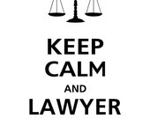 Large Keep Calm and LAWYER ON Vinyl Wall Decal KC-100