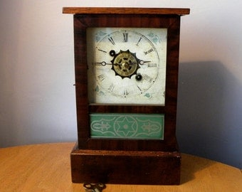 Antique Alarm Clock - Jerome & Co. - Cottage Clock - 1800's Clock
