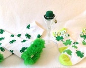 St Partick Bracelet Set .. Older Infant n Big Girls, Photo Prop, St. Patrick's Day, St. Paddy Day Accessory, Irish Pride Jewelry,