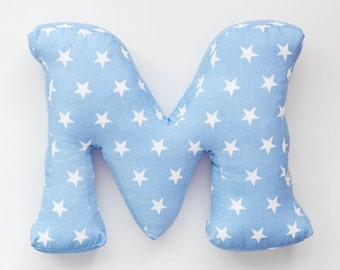 fabric letter pillow cushion