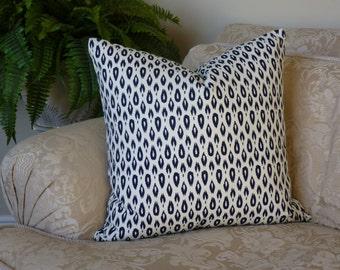Modern Throw Pillow Home Decor Designer Fabric Decorative Pillow Blue, Winter White Nate Berkus Cotton Accent Pillow Cushion Cover