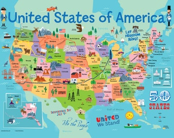 USA Map: We the People