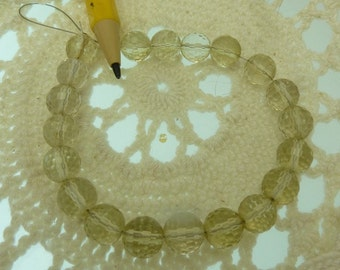 1 strand 20 beads aaa grade lemons quartz multi faceted 8 mm round