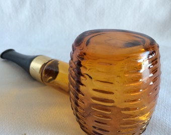 Vintage Avon After Shave Bottle Corncob Pipe Wild Country After Shave Glass Pipe Shaped Bottle