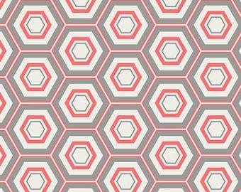 Minimalista - Hexa in Turquoise - MNL 200 - Art Gallery Fabrics - 1/2 yard, Add'l Avail