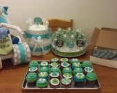 BABY SHOWER PACKAGE center pieces and treats