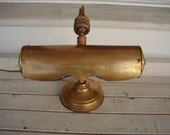 antique 1930's,French brass bankers lamp-swivel ball jointed,articulated head,weighted base-