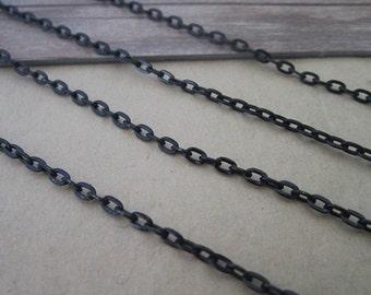 6.6ft  black color necklace pendant chain   3mmx4mm