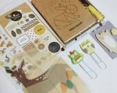 Forest / Autumn Themed Planner Kit / Mail Art Kit / Snail Mail Kit / Penpal Kit