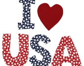 I love USA applique - iron on 4th of July DIY