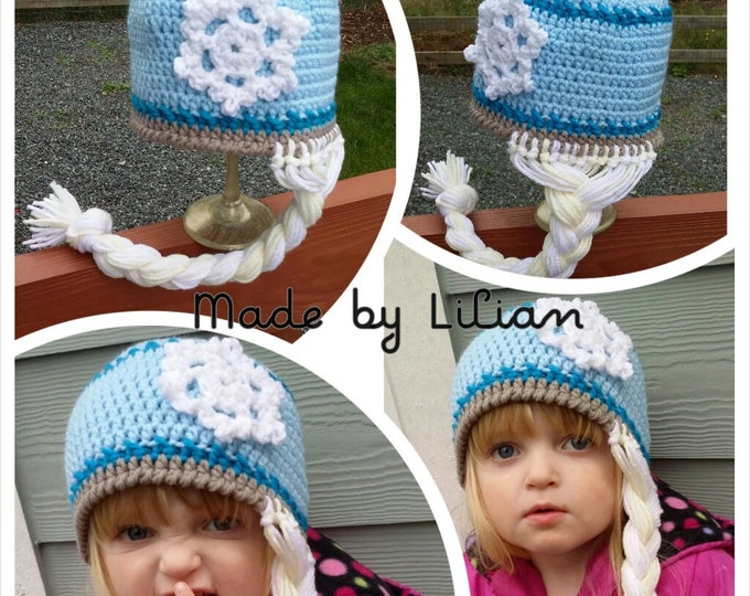 PATTERN: Snowflake queen Crochet hat -PATTERN 2 Sizes