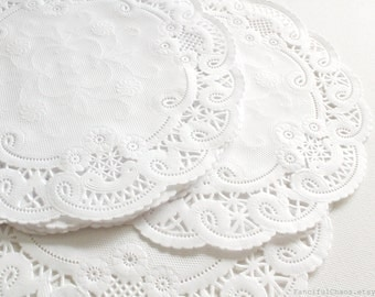 50 White Paper Doily Doilies 5 inch