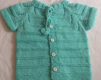Knitting Baby blue Vest /  Baby Vest / Handmade Vest /  Baby Blue  Color Vest