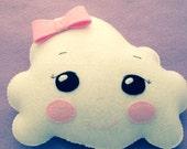 Cute little felt cloud pillow