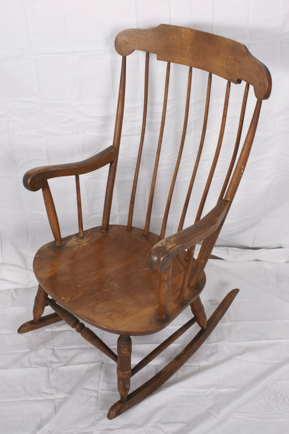 Rocking Chair Vintage Nichols Amp Stone By Crackedvesselvintage