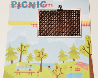 12x12 Premade Scrapbook Layout- Picnic Layout