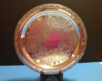Vintage William Rogers silverplate tray