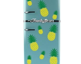 Retro style Fridge pineapple decals r/trees