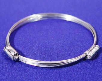African Elephant Hair Bracelet - 2 Knot Stainless Steel from Zimbabwe