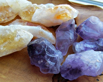 Large Chunky Amethyst or Citrine Crystal R3 or 30