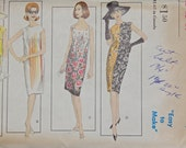 Vogue 6154 Mostly UNCUT Sewing Pattern Shift Dress Size 12 Bust 32