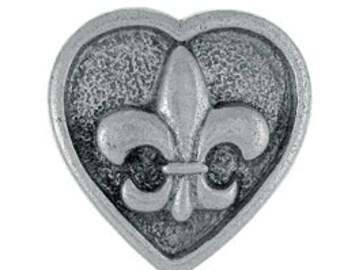 Fleur de Lis Heart Lapel Pins - CC432