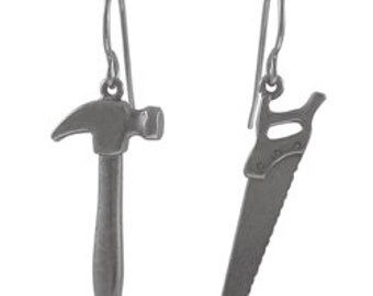 Hammer and Saw Earrings - LT205