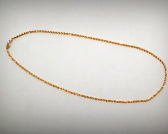 "14K Gold Filled 18"" Twisted Rope Necklace"