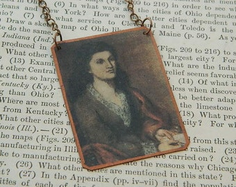 Writers necklace Mathilde Blind Literature jewelry mixed media jewelry