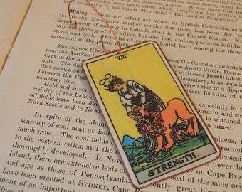 Tarot ornament  Tarot card Strength Holiday Decor