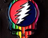 Grateful dead pin, steal your face, rainbow, gay pride, hat pin