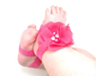 Baby Barefoot Sandals - Baby Photo Prop