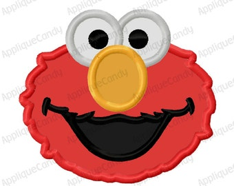 Red Monster Applique Embroidery Design 4x4 5x7 6x10 8x8 Elm0 INSTANT DOWNLOAD