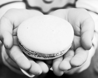 gift mom mothers day card food photography French macaron black and white photography print art dining room decor food art 4x6 5x7 6x8 8x10