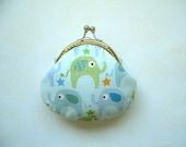 SALE Cute Elephant Coin Purse - Handmade Gift, Birthday Gift, Holiday Gift, Aqua, Green, Blue