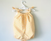 Baby girl romper yellow bubble romper playsuit